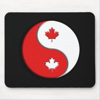 Canadian YinYang Mouse Mat