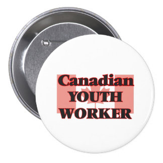 Canadian Youth Worker 3 Inch Round Button