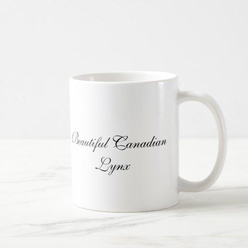 CanadianLynx hermoso Tazas