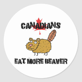 Canadians Eat More Beaver Stickers