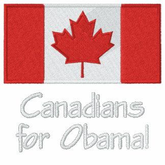 Canadians for Obama Fleece Zip-up Jacket