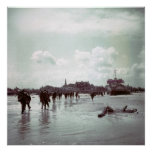 Canadians Juno Beach D-Day France World War II Poster