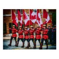 Canadians on Parade by Shawna Mac Postcard