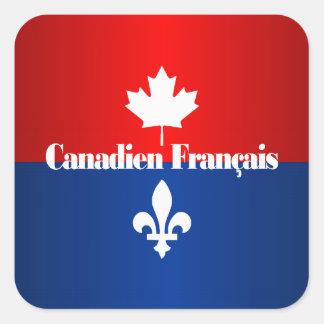 Canadien Francais 2 Pegatina Cuadrada
