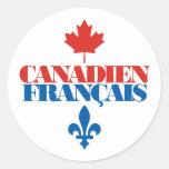 Canadien Francais 3 Etiqueta Redonda