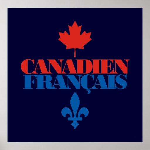 Canadien Francais 3 Póster