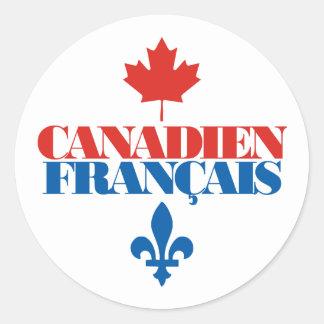 Canadien Francais 3 Classic Round Sticker