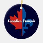 Canadien Francais Adorno Navideño Redondo De Cerámica