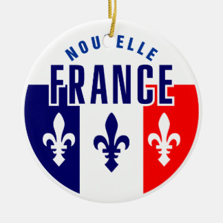 Canadien Francais Ceramic Ornament