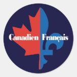 Canadien Francais Etiqueta Redonda