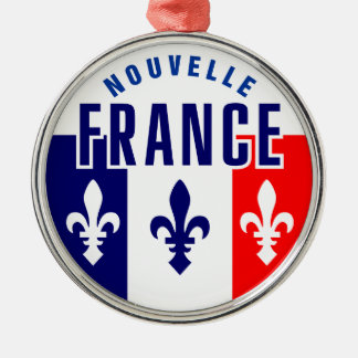 Canadien Francais Metal Ornament