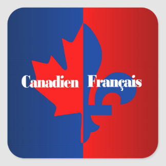 Canadien Francais Pegatina Cuadrada