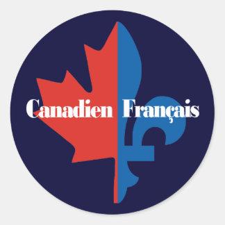Canadien Francais Round Sticker