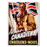 canadiens allons-y póster