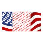Canadiense/bandera que agita americana tarjeta con foto personalizada