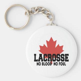 Canadiense de Canadá LaCrosse Llavero Redondo Tipo Pin