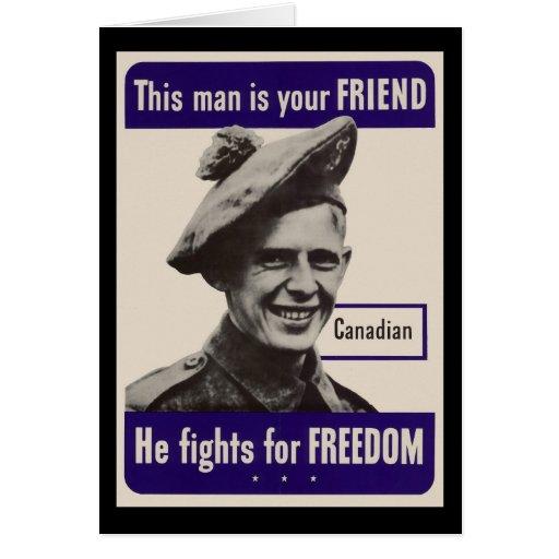 Canadiense de WWII Tarjeta De Felicitación
