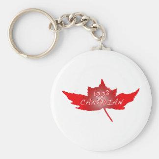 Canadiense del 100% llavero redondo tipo pin