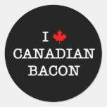 Canadiense del amor del tocino I Etiqueta Redonda