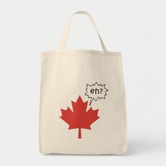 Canadiense divertido bolsa tela para la compra