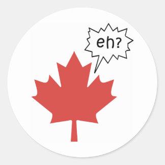 Canadiense divertido etiquetas redondas