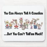 Canadiense divertido tapete de raton