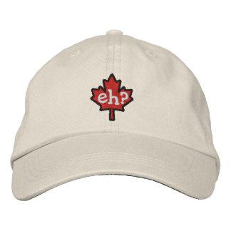 ¿Canadiense Eh? Hoja de arce del bordado Gorras De Béisbol Bordadas