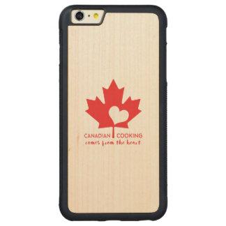 Canadiense Foodie Funda De Arce Bumper Carved® Para iPhone 6 Plus