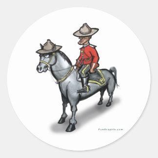 Canadiense Mounty Pegatina