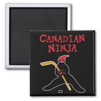 Canadiense Ninja Imán Cuadrado