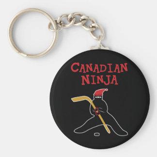 Canadiense Ninja Llavero Redondo Tipo Pin