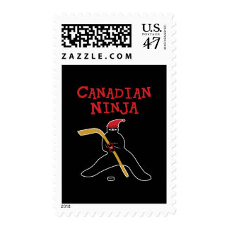 Canadiense Ninja Sello Postal
