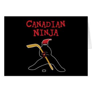 Canadiense Ninja Tarjeta De Felicitación