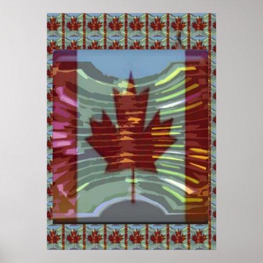 Canadiense orgulloso del símbolo: El cuidar para e Poster