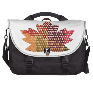 CANADIENSE orgulloso Diseño artístico de la hoja Bolsas De Ordenador