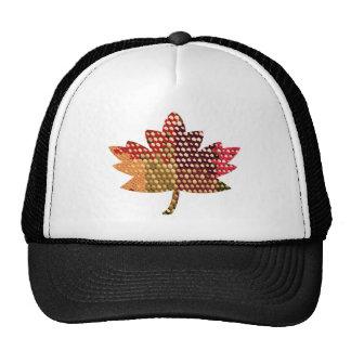 CANADIENSE orgulloso:  Diseño artístico de la hoja Gorras