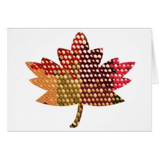 CANADIENSE orgulloso:  Diseño artístico de la hoja Tarjeta De Felicitación