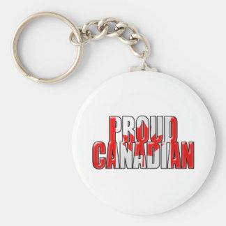 canadiense orgulloso llavero redondo tipo pin