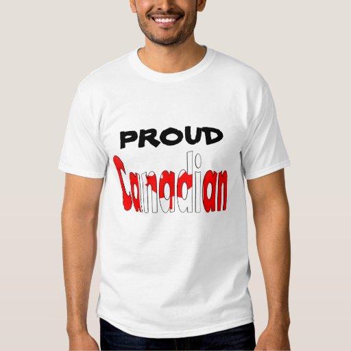 Canadiense orgulloso playeras