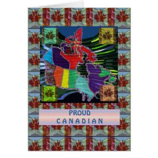 Canadiense orgulloso tarjeta de felicitación