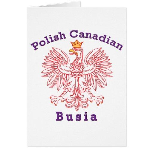 Canadiense polaco Eagle Busia Tarjeta De Felicitación