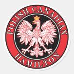 Canadiense polaco Eagle de Hamilton Pegatina Redonda