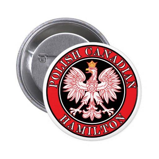 Canadiense polaco Eagle de Hamilton Pins