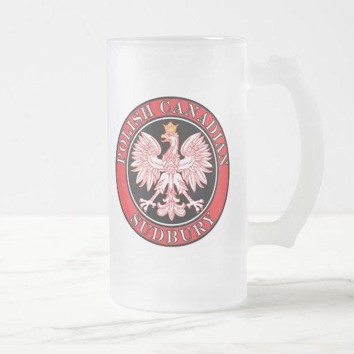 Canadiense polaco Eagle de Sudbury Taza De Cristal