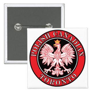 Canadiense polaco Eagle de Toronto Pin