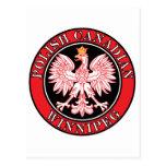 Canadiense polaco Eagle de Winnipeg Postal