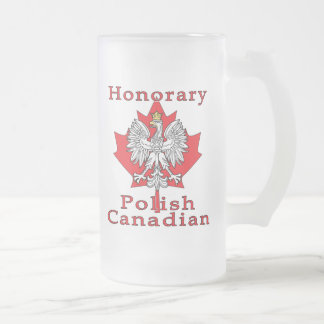 Canadiense polaco honorario taza de cristal