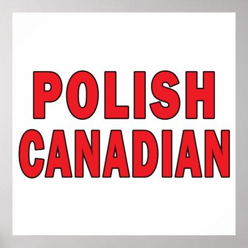 Canadiense polaco poster