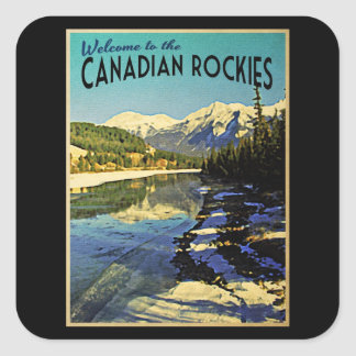 Canadiense Rockies Pegatina