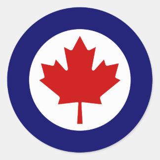 Canadiense Roundel Pegatina Redonda